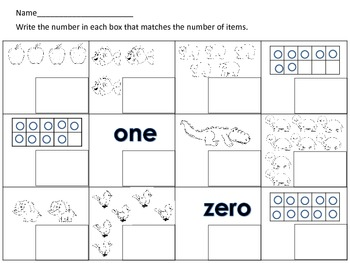 1-10 Number Recognition-What's My Number Math Center Activity