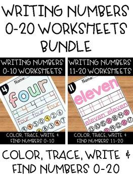 Number Sense Worksheets 0-20 BUNDLE