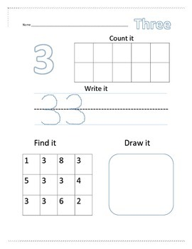 Number Recognition Worksheets 1-10