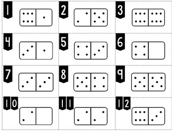 Number Recognition: Write the Number Shown on the Dominoes:  Domino Math