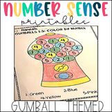Number Recognition and Counting-Gumball Math