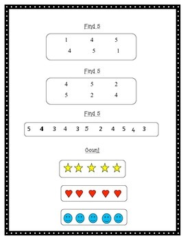 Number Recognition and Identification Instruction- #s 1-10