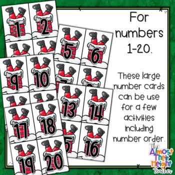 Number Recognition and Matching 1 - 20 - Christmas theme