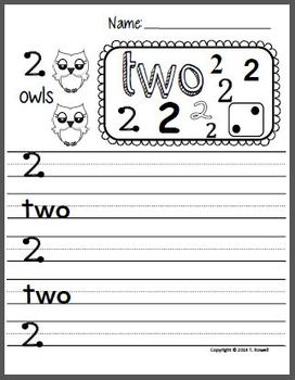 Number Recognition and Writing Practice 1-9 (Word and Number)
