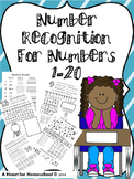 Number Recognition for Numbers 1-20