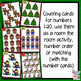 Number Recognition - tens frame & counting cards - 1-20 - Christmas theme