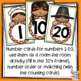 Number Recognition - tens frame & counting cards - 1-20 - Thanksgiving theme