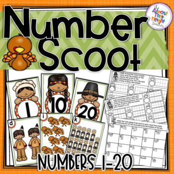 Number Recognition - tens frame & counting cards - 1-20 -