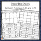 Valentine Number Recognition a tens frame & counting cards activity