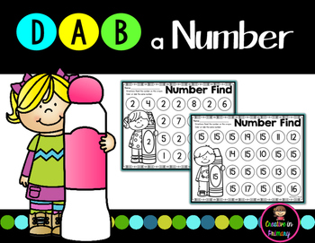 Number Recognition to 20, Number Dab to 20