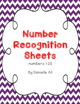 Number Recogntion Sheets