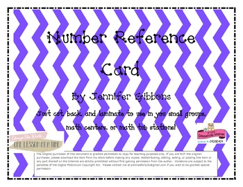 Number Reference Card