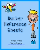 Number Reference Sheets