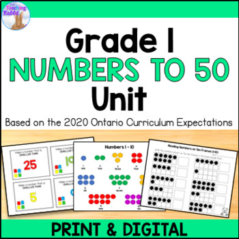 Number Relationships Unit for Grade 1 (Ontario Curriculum)