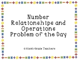 Number Relationships and Operations Warm Ups