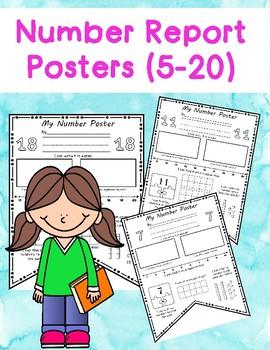 Number Report Pennants (Numbers 0-20)