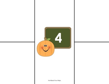 Number Representations for 1 - 20:   Fall / Pumpkin Theme