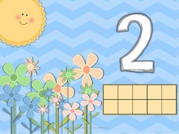 Number Representation Buzzy Bee Playdough Mats #'s 1 - 10