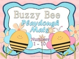 Number Representation Buzzy Bee Playdough Mats #'s 1 - 10