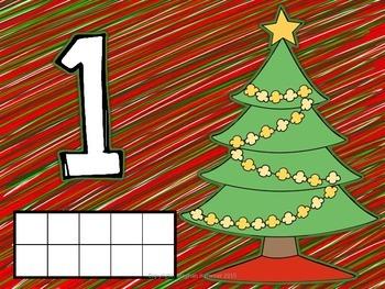 Number Representation Christmas Playdough Mats #'s 1 - 10