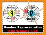 Number Representation Clip Wheels- 1-20