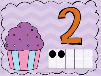 Number Representation Cupcake Playdough Mats #'s 1 - 10