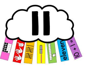 Number Representation, Letter Recognition & Beginning Sounds Rainbows BUNDLE