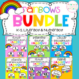 Literacy and Maths Centers RAINBOWS BUNDLE