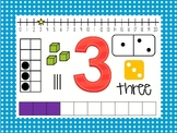 Number Posters 0-20 - polka dot border