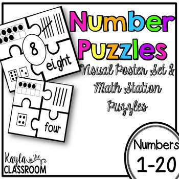 Number Representation Posters and Puzzles