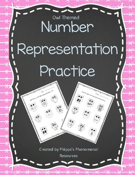 Number Representation Practice {Owl Themed}