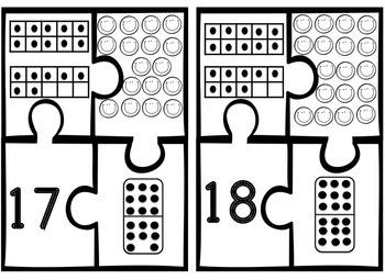 Number Representation Puzzles 1-20