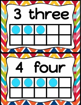 Number Posters (Rainbow Decor)