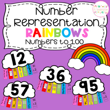 Number Representation Rainbows - Numbers to 100