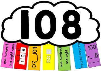 Number Representation Rainbows - 3 digit numbers