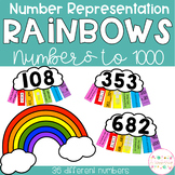 Number Representation Rainbows - 3 digit numbers