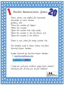 Number Representation Sheets 1-20