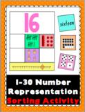 Number Representation Sorting Activity 1-30