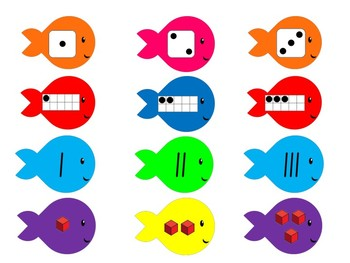 Number Representation Sorting Activity- Fish