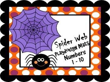 Number Representation Spider Web Playdough Mats #'s 1 - 10