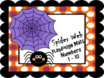 Number Representation Spider Web Playdough Mats #'s 1 - 10