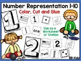 Number Representation from 1-10 / Station or Worksheets