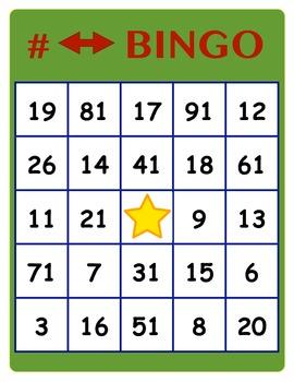 Number Reversals BINGO
