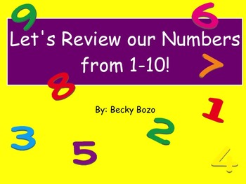 Number Review 1-10 Smart Board Lesson