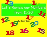 Number Review 11-20 Smart Board Lesson