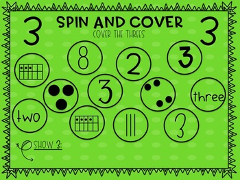 Number Review: Spin & Cover 0-5