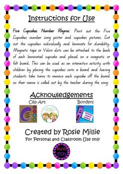 Five Cupcakes Number Rhyme