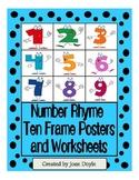 Number Rhyme Polka Dot Ten Frame Posters and Worksheets