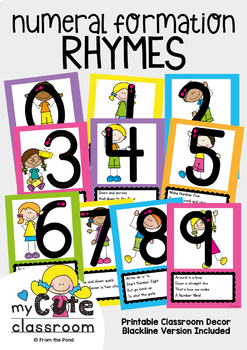 Numeral Formation - Number Rhyme Posters