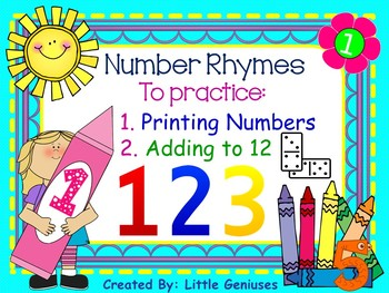 Number Rhymes and More for Kindergarten to Grade Two